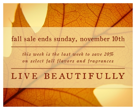 Fall Sale Ends this Sunday